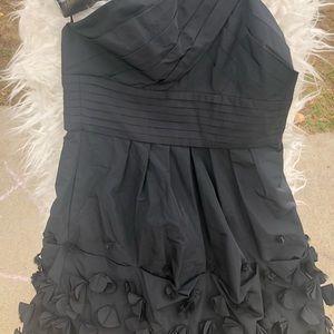 ~NWT~BCBGMAXAZRIA BLACK TAFFETA dress SZ4P